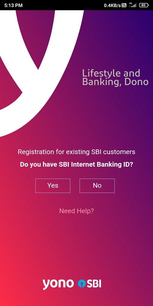 Yono Registration By Net Banking